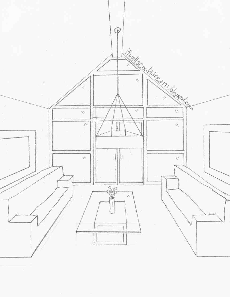 980x1264 Living Room Drawing Easy