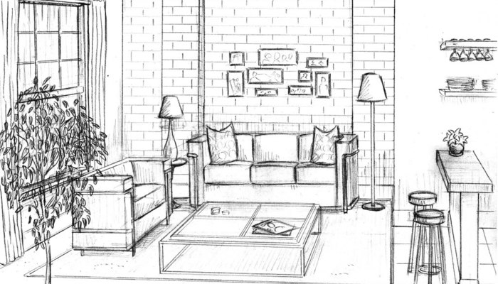 700x400 Living Room Perspective Drawing