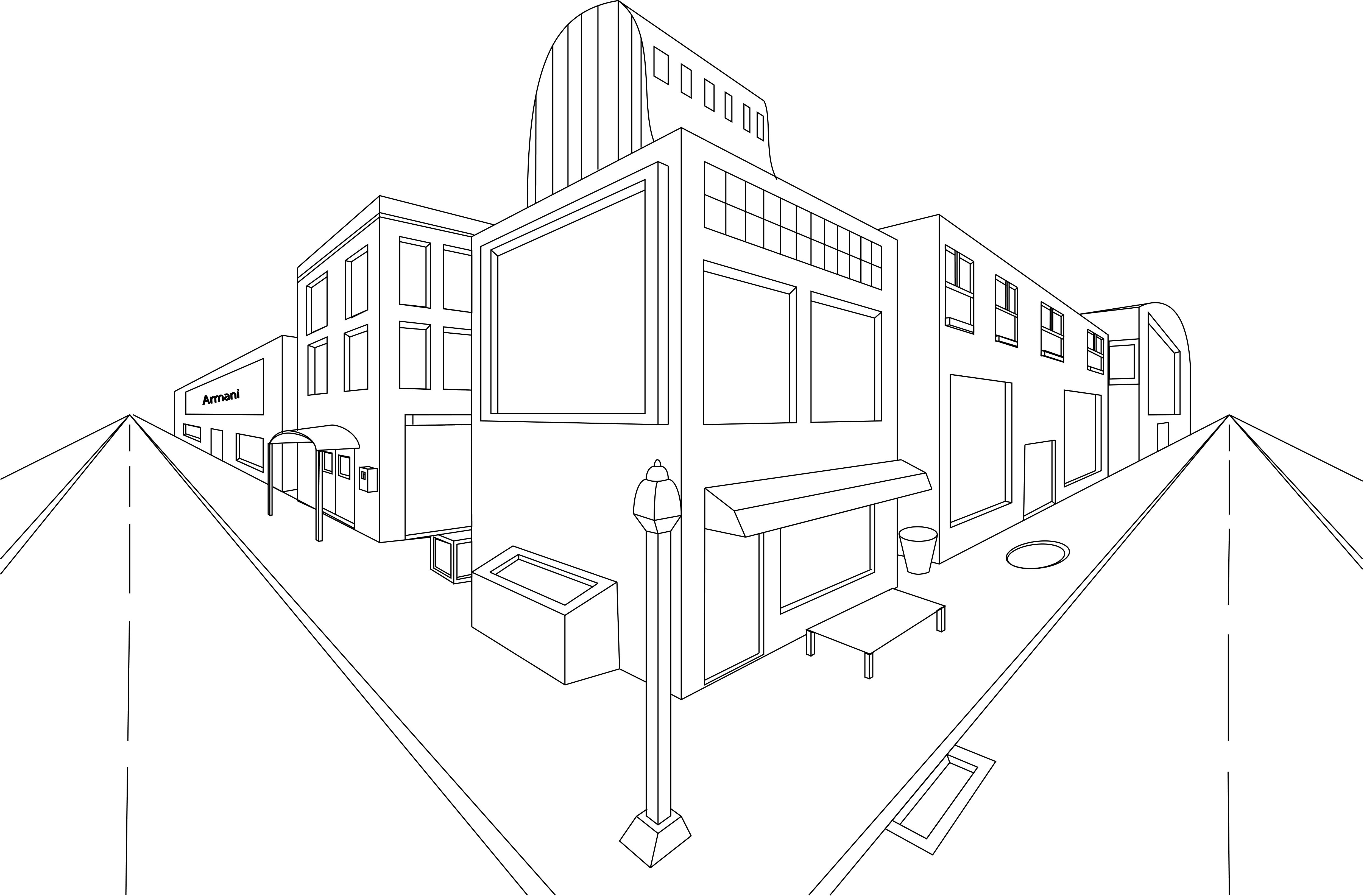 Perspective Street Drawing