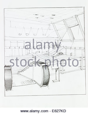 300x389 Architectural Perspective Drawing Of Subway Entrance On Street