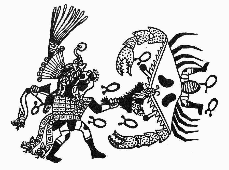 900x667 Peru Inca Gods Drawing By Granger