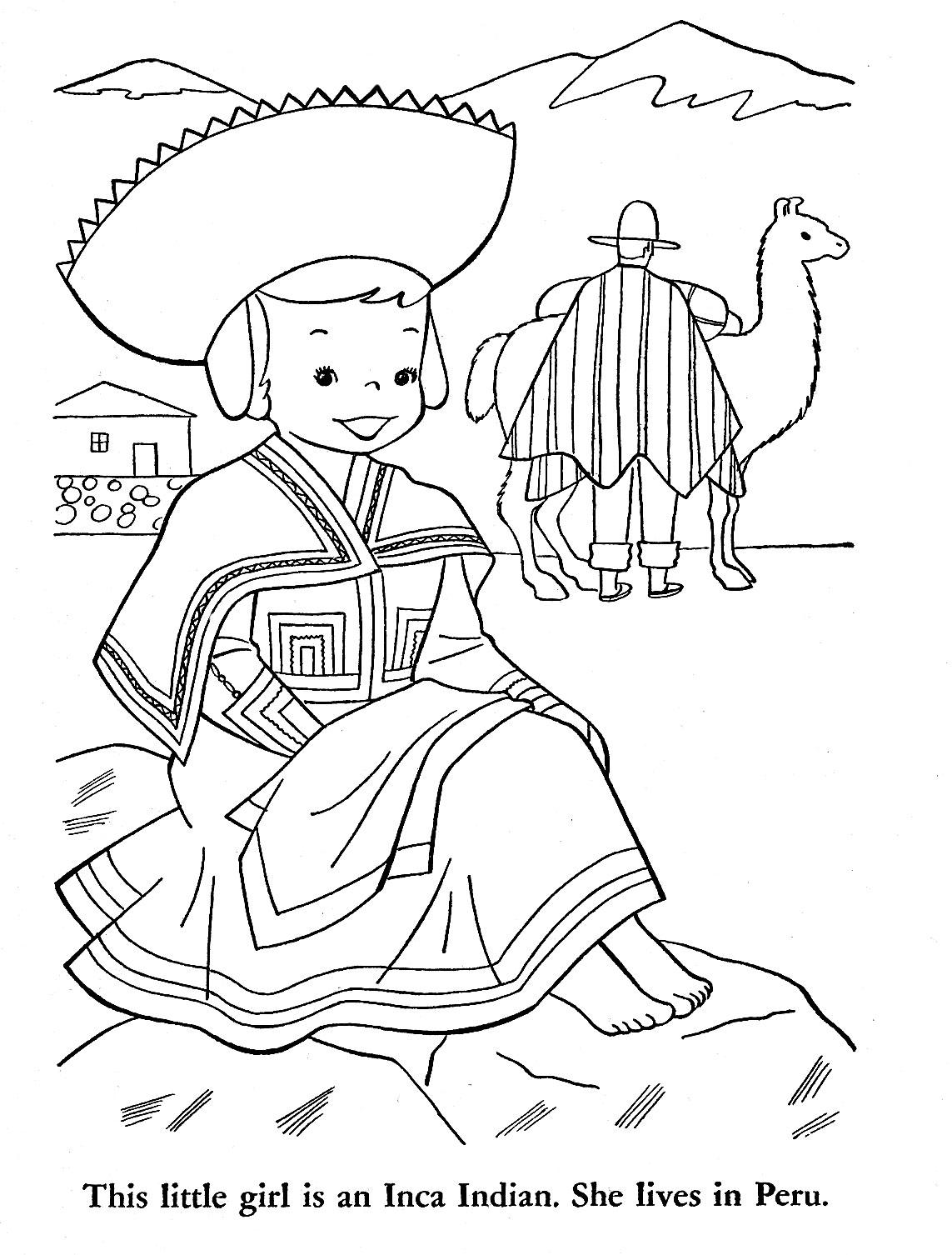 Peruvian Drawing at GetDrawings.com   Free for personal use Peruvian ...