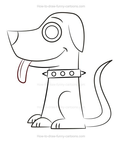 500x583 How To Draw A Cartoon Pet
