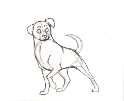 500x411 Doodle Of Boredom, How To Draw A [Cartoon] Dog