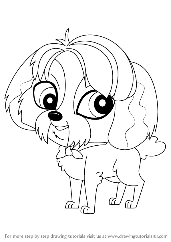 598x844 Learn How To Draw Digby From Littlest Pet Shop (Littlest Pet Shop