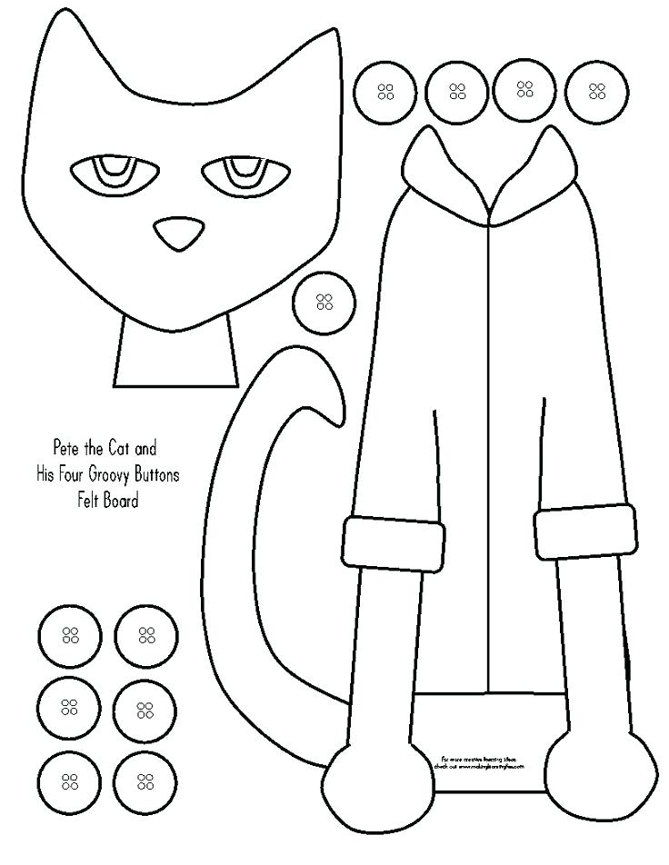 736x952 Pete The Cat Coloring Pages The Cats White Shoes And Cats