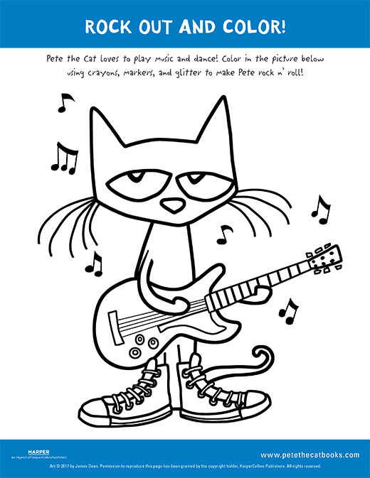 520x673 Rock Out And Color With Pete The Cat!