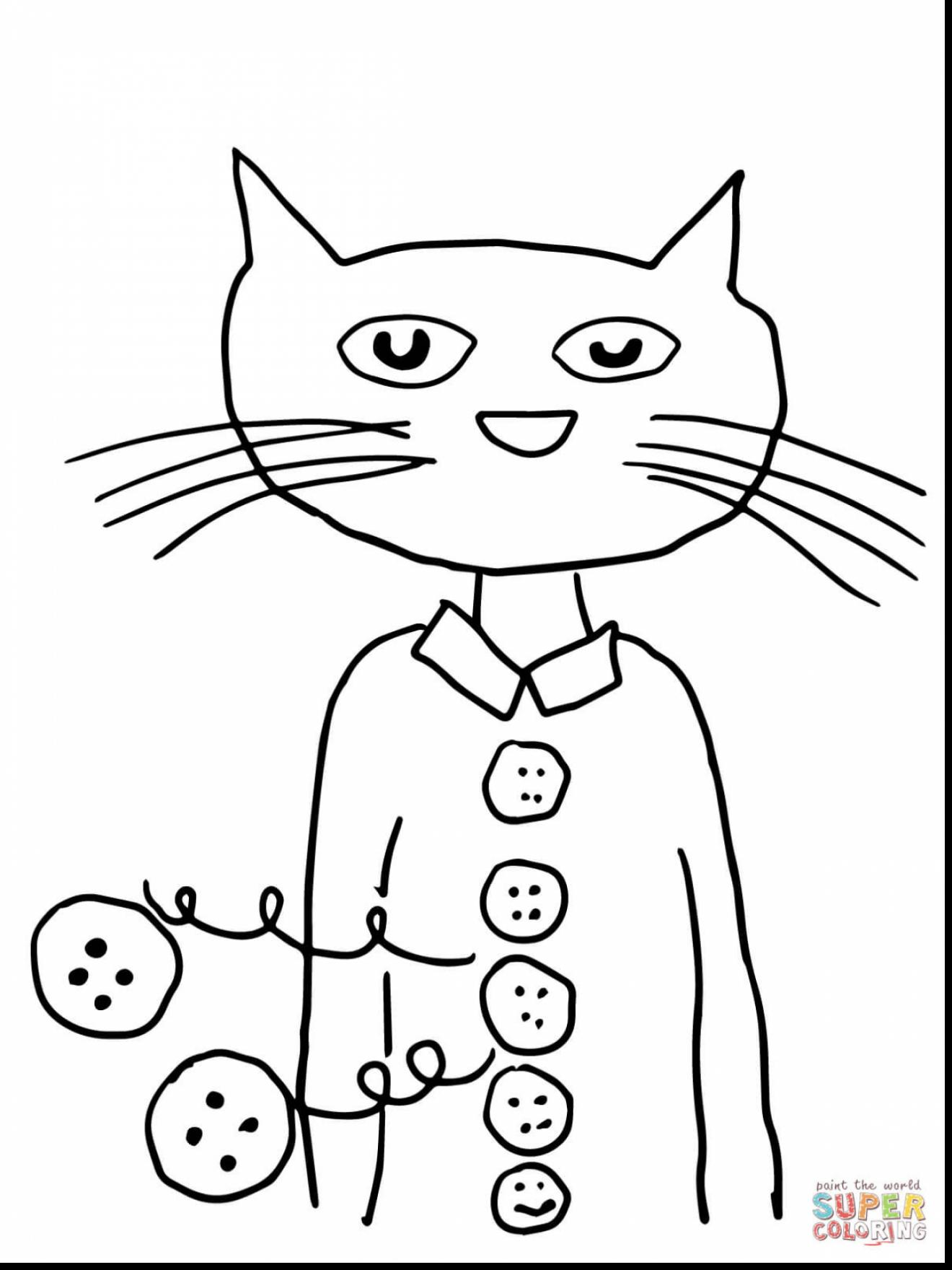 1320x1760 Magnificent Pete The Cat Four Groovy Buttons Coloring Page