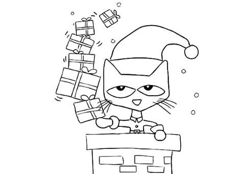 470x340 Pete The Cat Saves Christmas Coloring Page Drawing Board Weekly