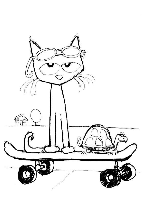 595x842 Print Coloring Image Cat, School And Kindergarten