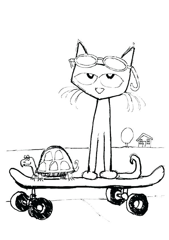 image relating to Pete the Cat Shoes Printable identify Pete The Cat Drawing at  No cost for specific