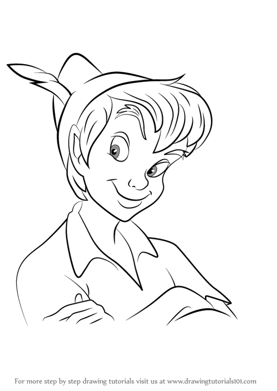 566x800 Learn How To Draw Peter Pan Face (Peter Pan) Step By Step