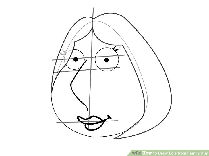 728x546 How To Draw Lois From Family Guy 7 Steps (With Pictures)