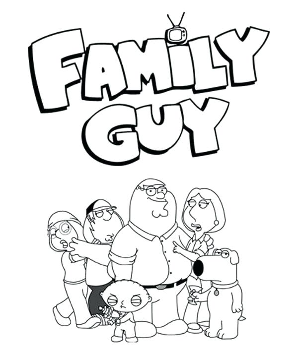 600x720 Coloring Pages Of Families From Family Guy Coloring Page Family