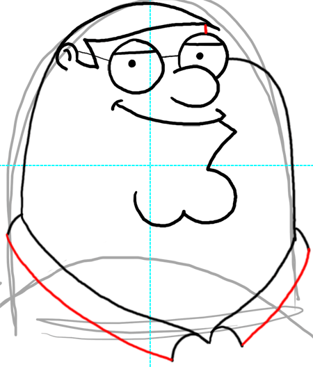 450x528 Step 15 How To Draw Peter Griffin From Family Guy Step By Step