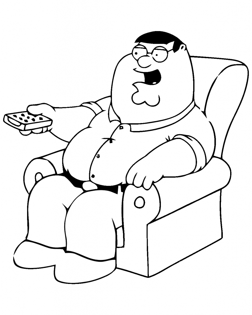 819x1024 Drawing Of Peter Griffin Peter Griffin Drawing Family Guy
