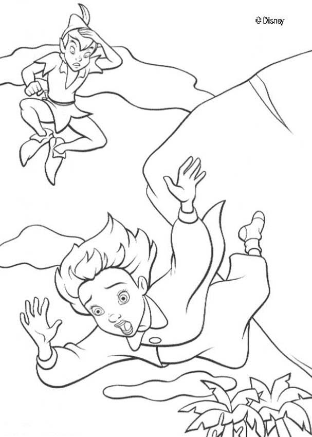 607x850 Wendy And Peter Pan Coloring Pages
