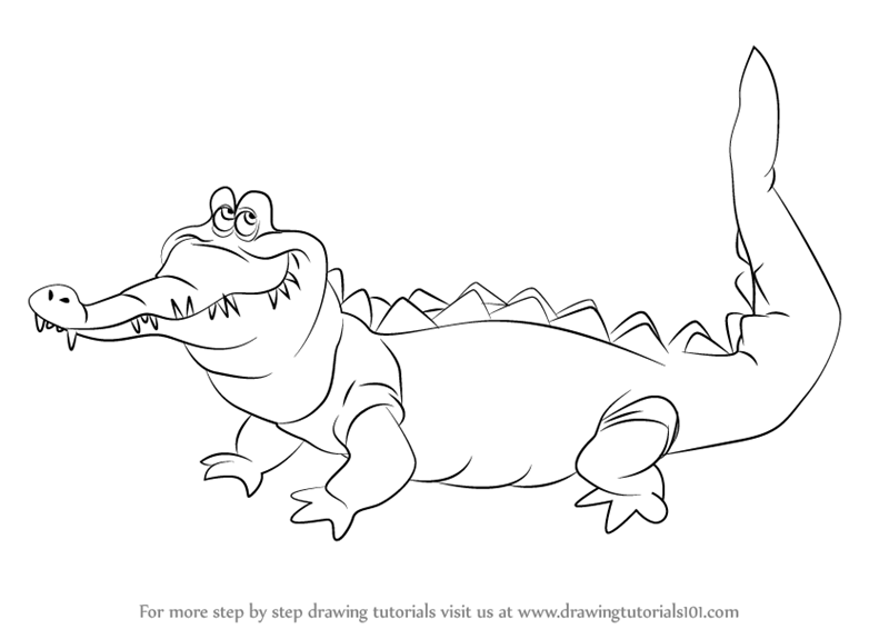 800x566 Learn How To Draw The Crocodile From Peter Pan (Peter Pan) Step By