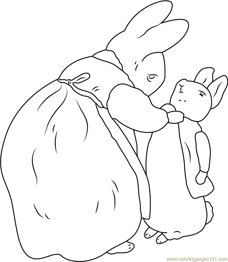 800x918 Beatrix Potter And Peter Rabbit Coloring Page