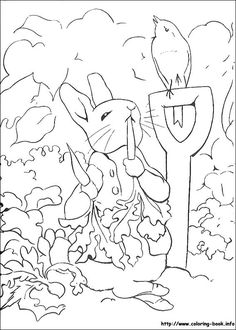 236x330 Simple Line Drawing Peter Rabbit