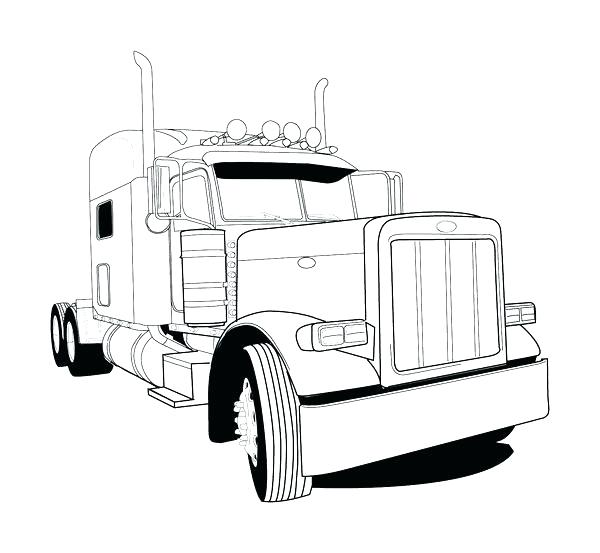 Peterbilt Drawing at GetDrawings | Free download