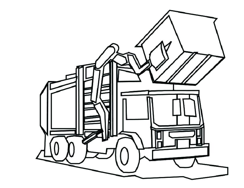 841x650 Excellent Peterbilt Coloring Pages Best Of Garbage Truck Page