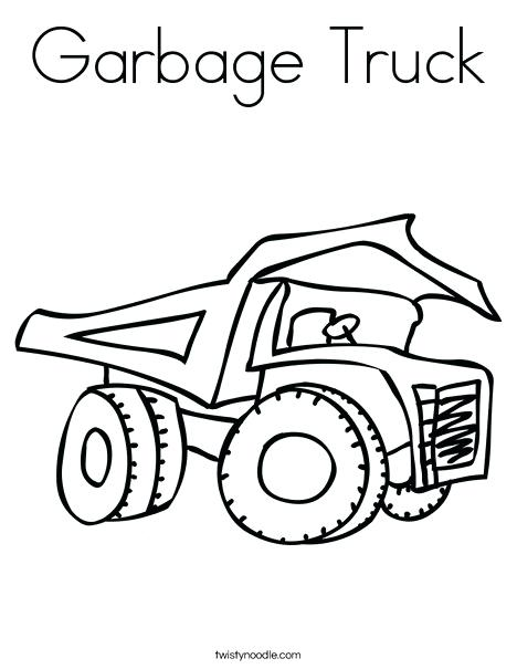 468x605 Garbage Truck Coloring Page 89 And Dumper Truck Coloring Page