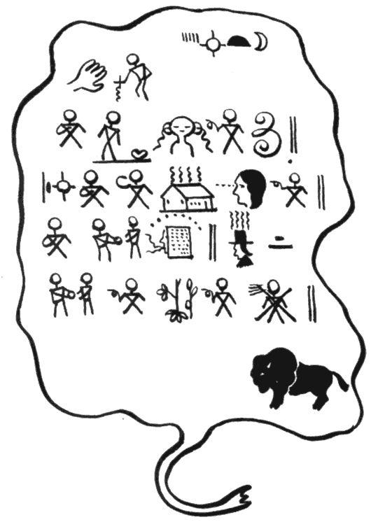 Petroglyph Drawing