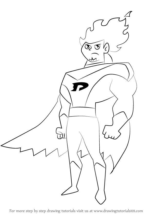 596x842 Learn How To Draw Dan Phantom From Danny Phantom (Danny Phantom