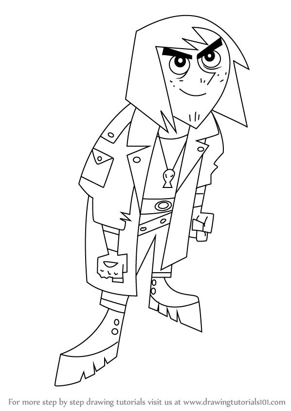 598x844 Learn How To Draw Johnny 13 From Danny Phantom (Danny Phantom
