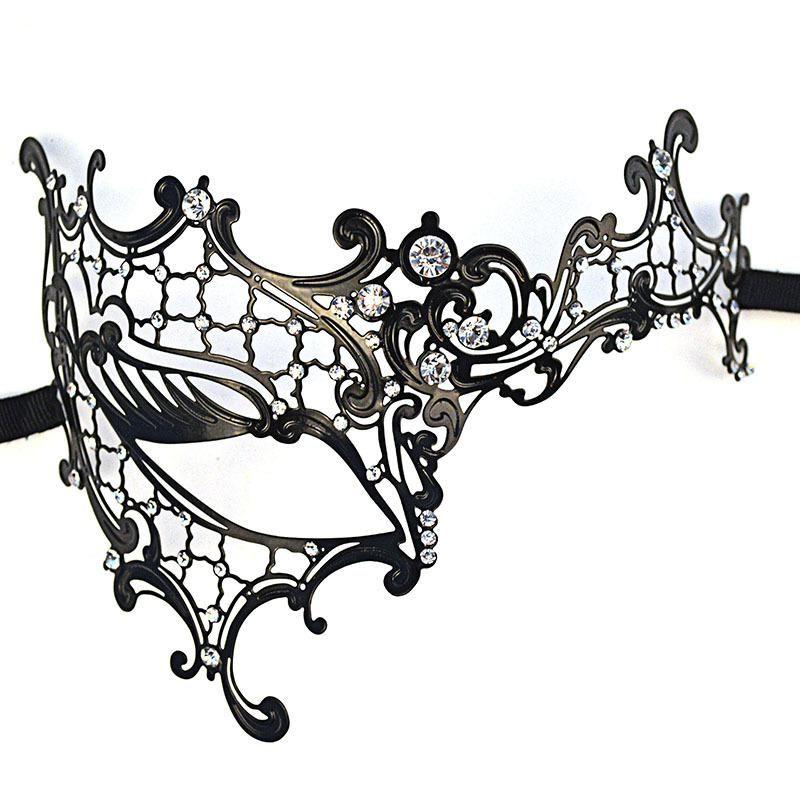 800x800 Metal Party Mask Metal Filigree Laser Cut Masquerade Mask Diamante