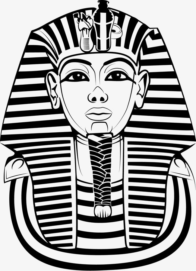 650x897 Egyptian Man Face Vector Image, Pharaoh, Vector, Egypt Png