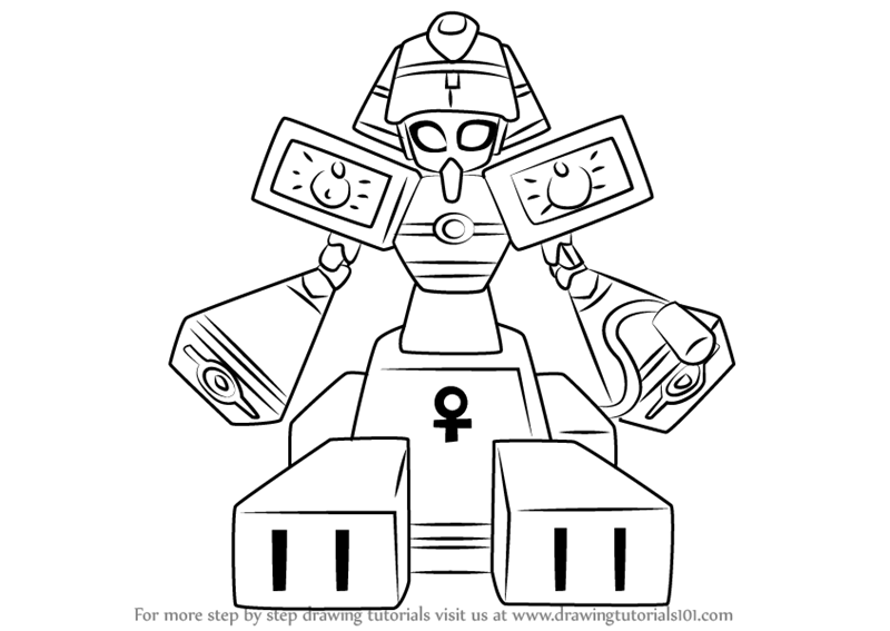 800x567 Learn How To Draw King Pharaoh From Medabots (Medabots) Step By