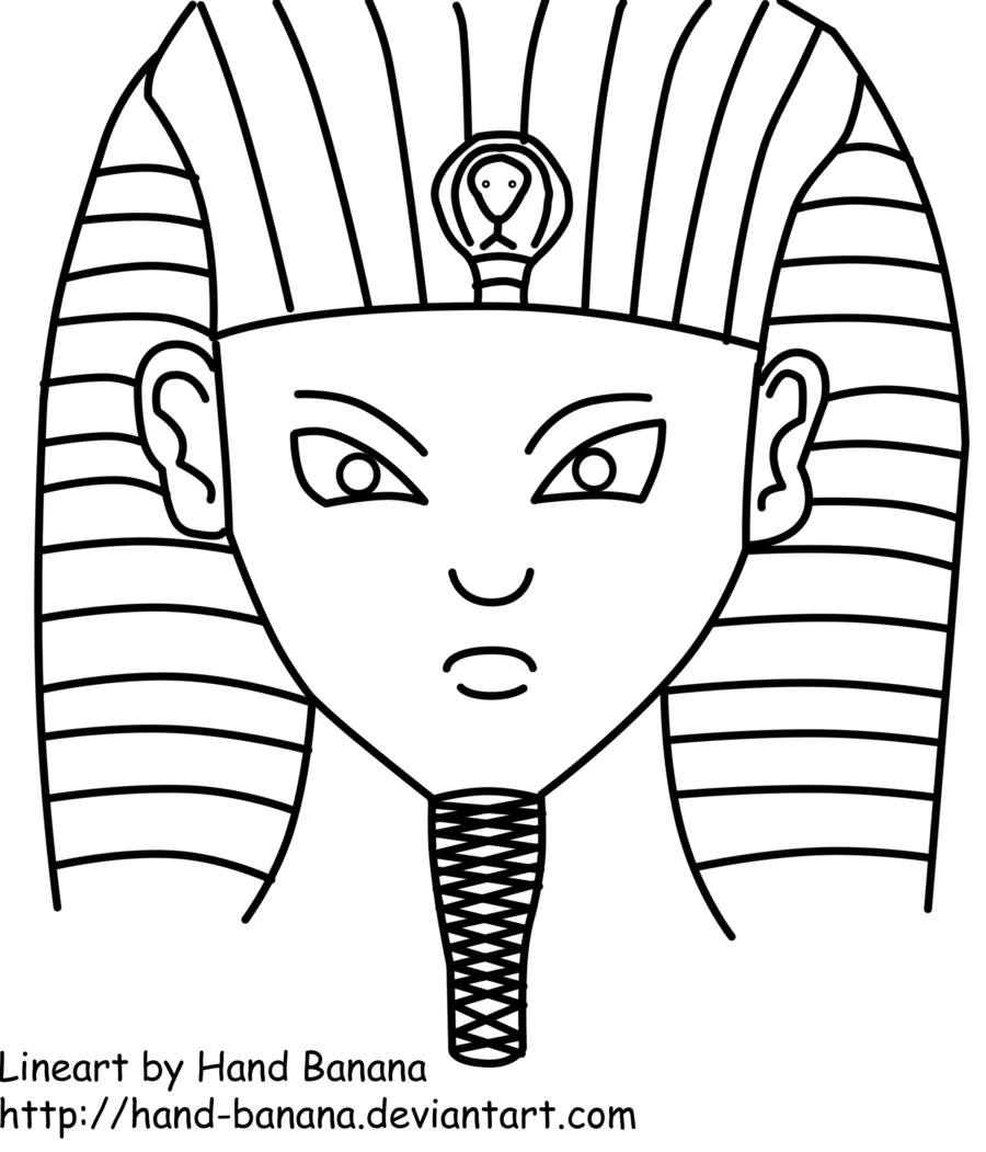 900x1051 Our Pharaoh Lineart By Hand Banana