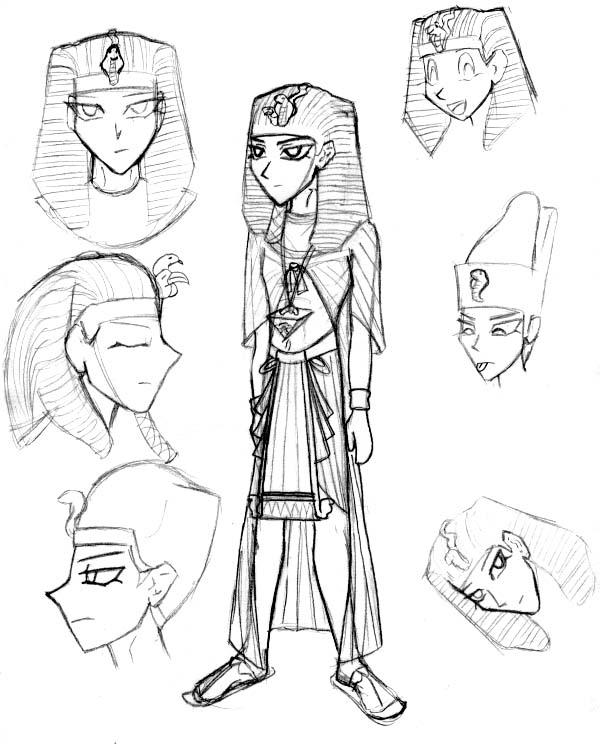 600x744 Pharaoh Atem Garb Sketches By Kelly42fox