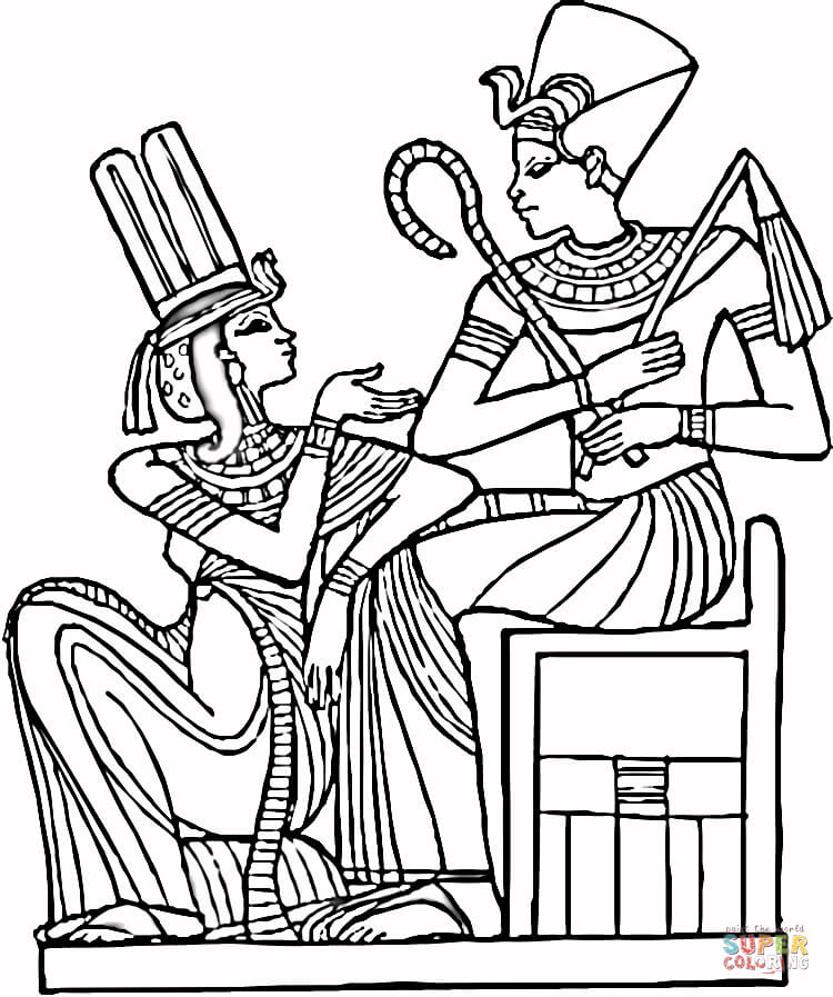 750x897 Egyptian Pharaohs Coloring Page Free Printable Coloring Pages