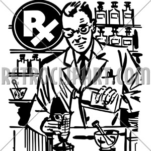 300x300 Pharmacist Mixing Medicine,