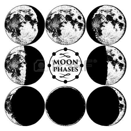 450x450 Moon Phases Planets In Solar System. Astrology Or Astronomical