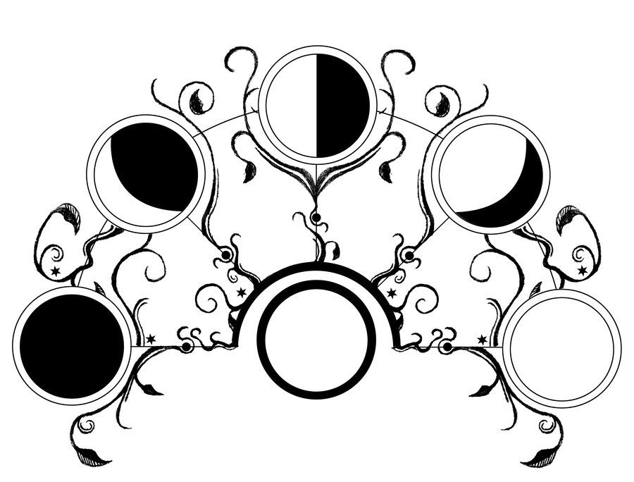 900x684 Moon Phases. Design Moon Phases