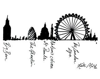 Philadelphia Skyline Drawing