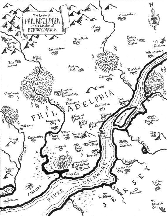570x738 Best Philadelphia Map Ideas On Philadelphia