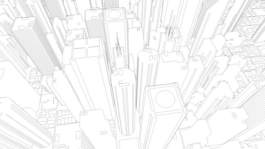 852x480 Drawing Of Skyline Stock Footage Video Shutterstock