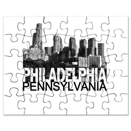 460x460 Philadelphia Skyline Puzzle By Theallcity