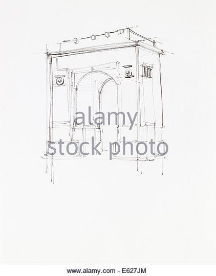 422x540 Sketch Landmark Stock Photos Amp Sketch Landmark Stock Images