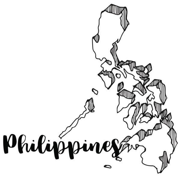 612x612 Philippine Map Clipart Black And White