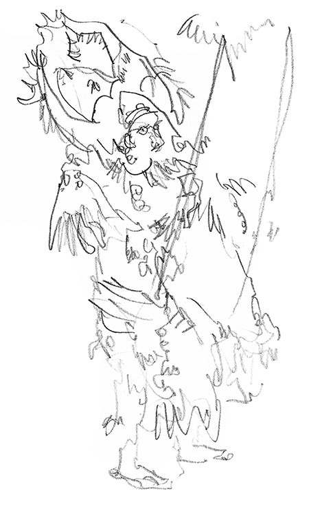 450x759 Ati Atihan Festival Sketches, Philippines The Ati Atihan