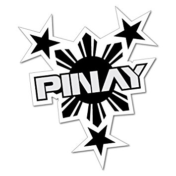 355x355 Pinay Philippines Sticker Flag Bumper Water Proof
