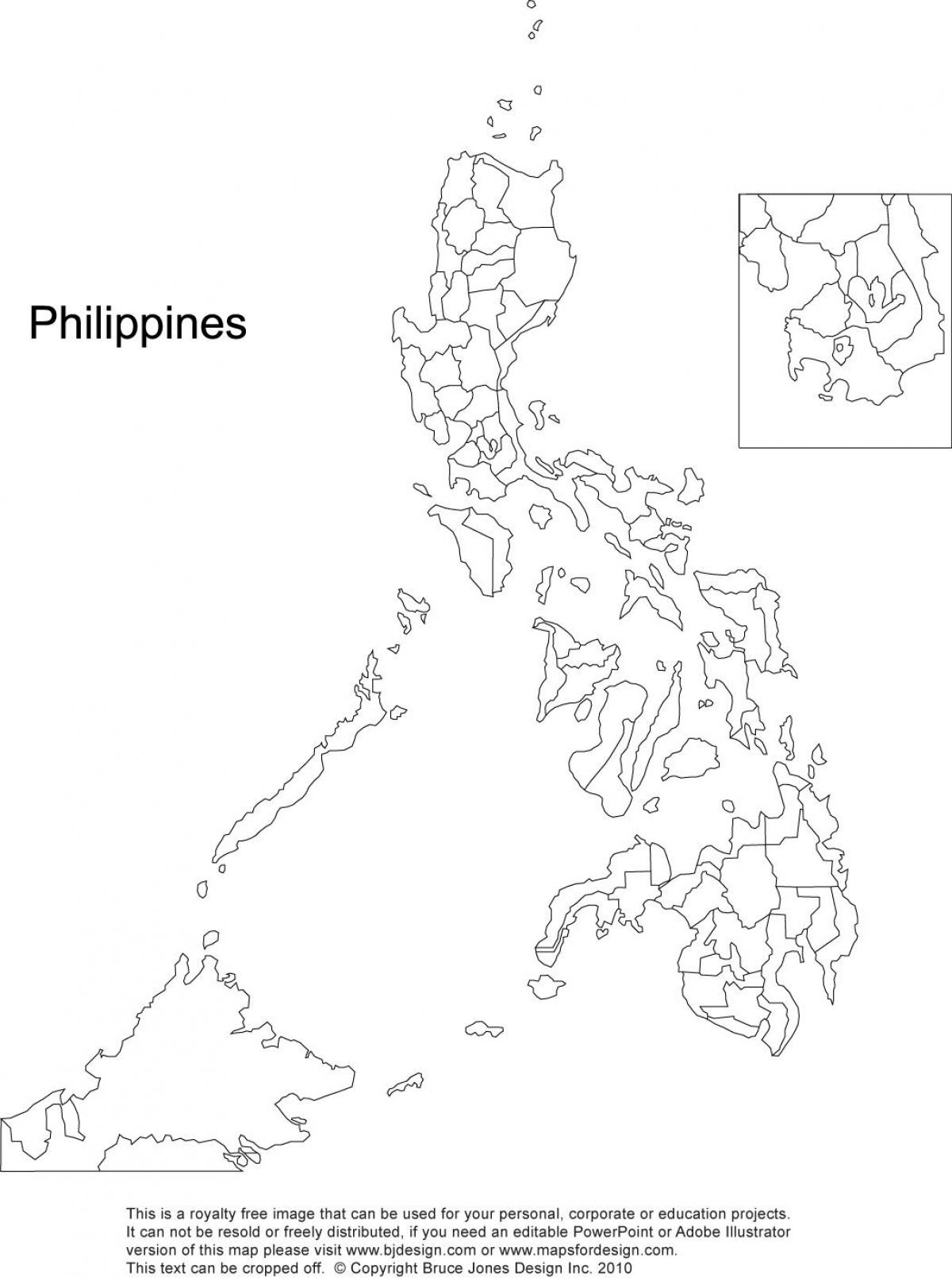 Philippines Map Drawing