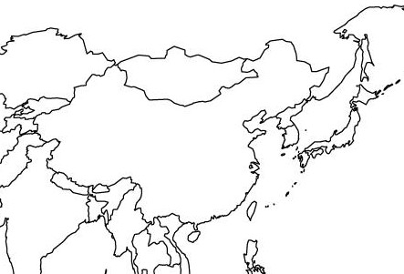 443x301 East Asia Map