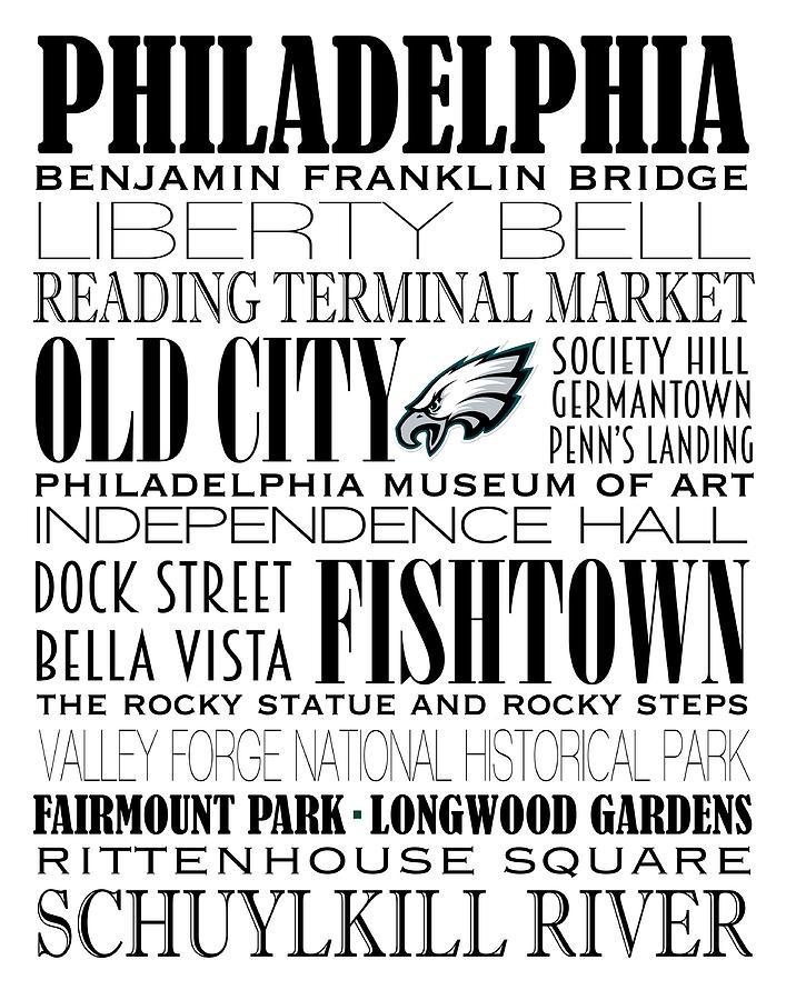 707x900 Philadelphia Eagles Subway Art Digital Art By Marian Schumer